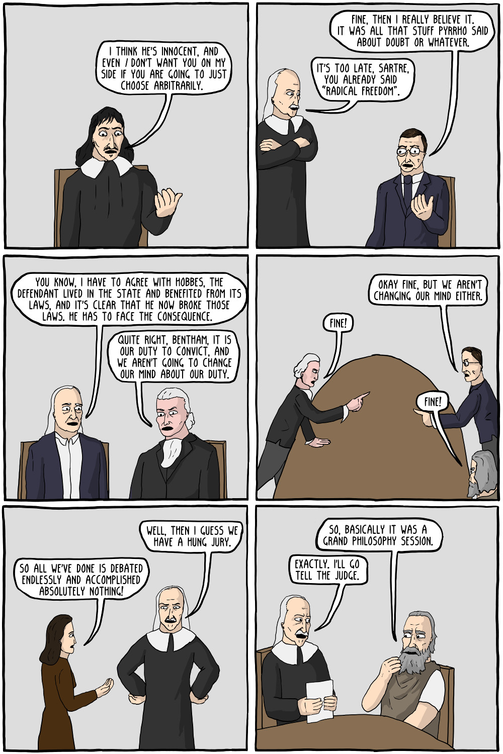 What? You didn't expect twelve philosophers to agree on something did you?