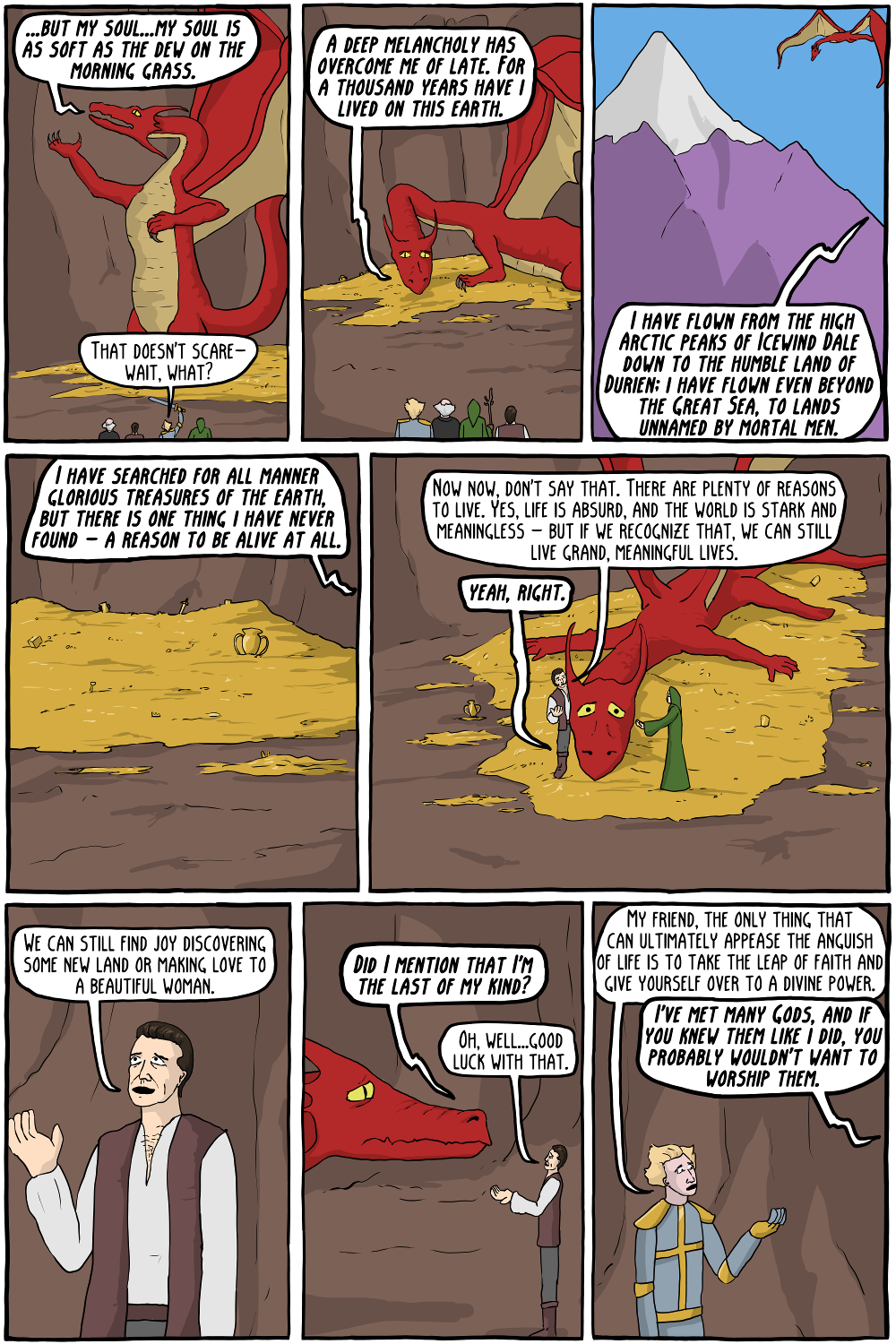 dungeons and dragons and philosophers vi the angsty dragon of angst existential comics. Black Bedroom Furniture Sets. Home Design Ideas