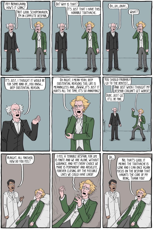 Kierkegaard at the Dentist - Existential Comics
