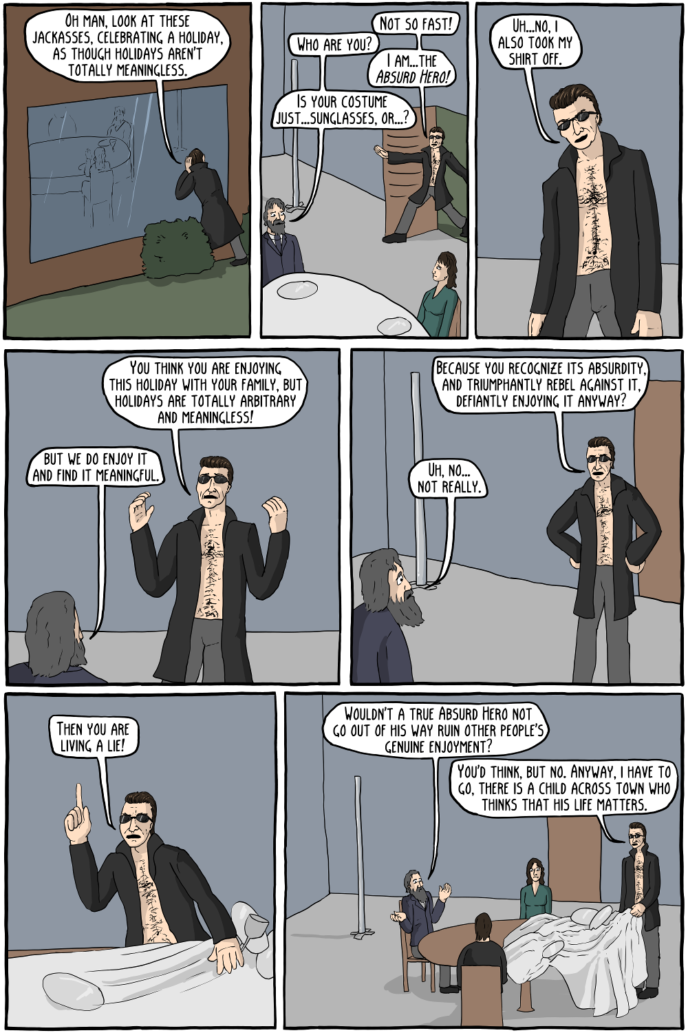 Is this comic unfair to Camus? Yeah, but that's just part of the absurdity of the world, you know?