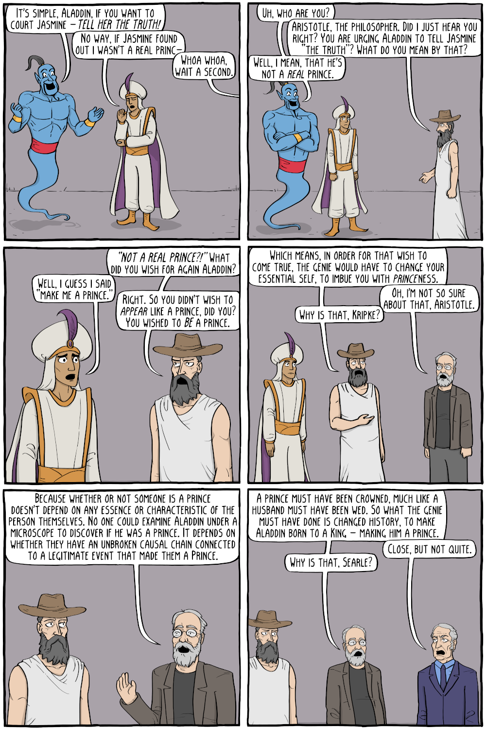 Aladdin's wishes (Existential Comics)