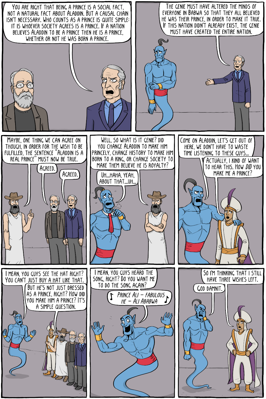 Aladdin's Wish - Existential Comics