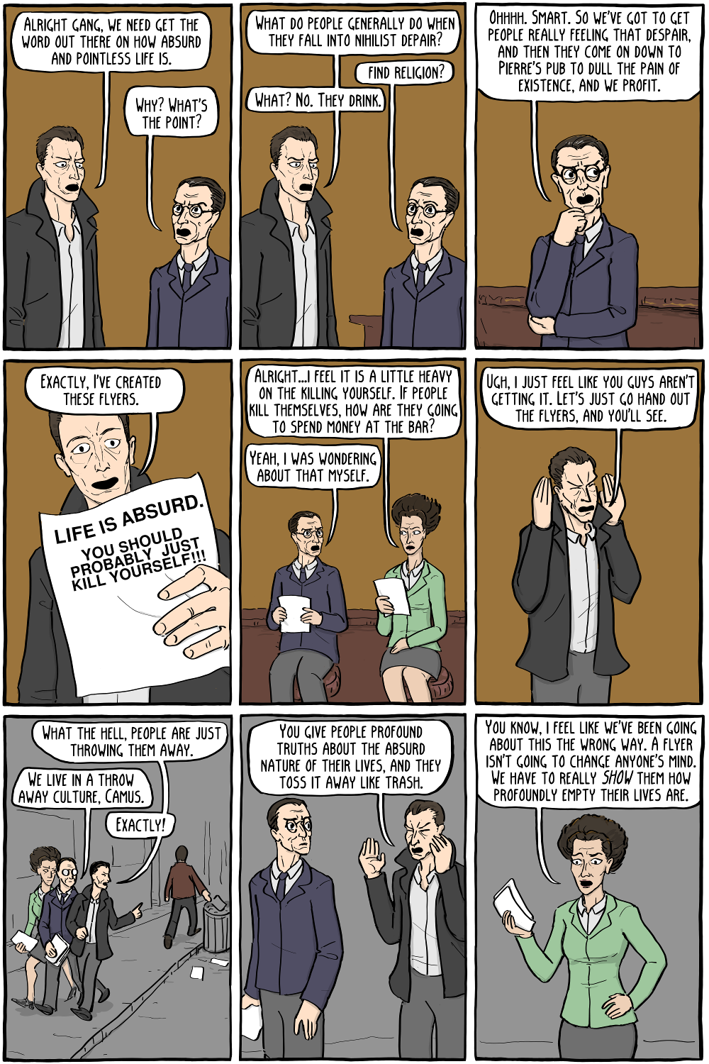 simone de beauvoir existential comics