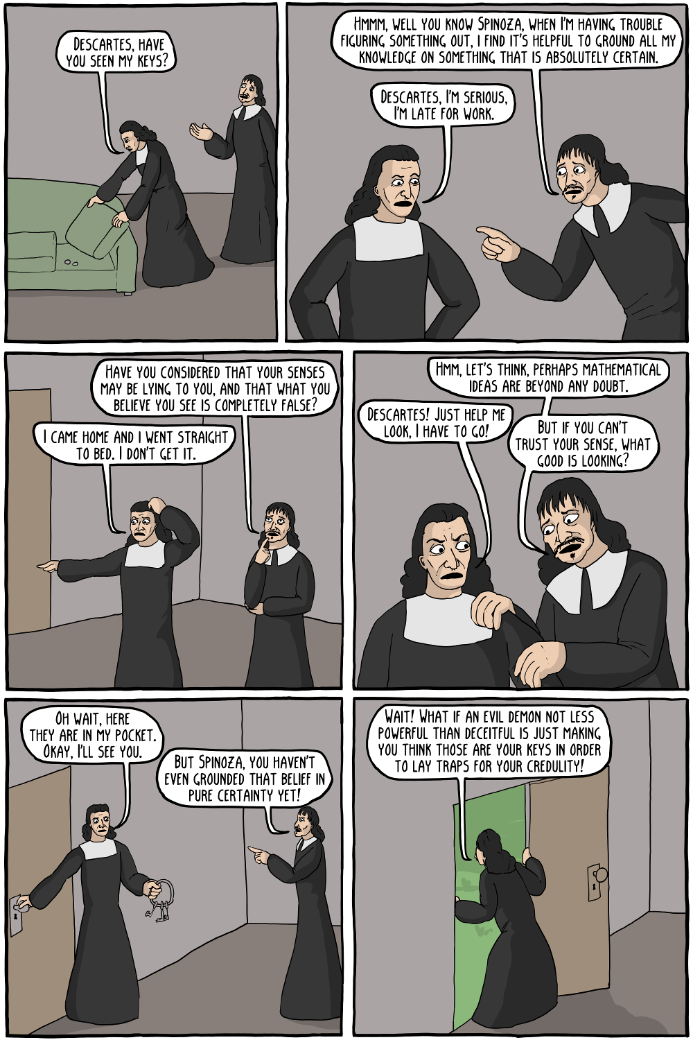 descartes and his idea of god In his meditations, descartes points out that there are three types of ideas they can be innate, adventitious, caused by things outside of one's self, and others that can be invented by us, such as ideas of mermaids or unicorns after he concludes that god must necessarily exist, which will be .