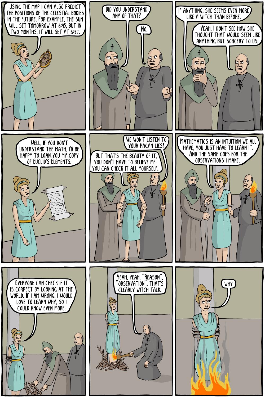 The Death of Hypatia - Existential Comics