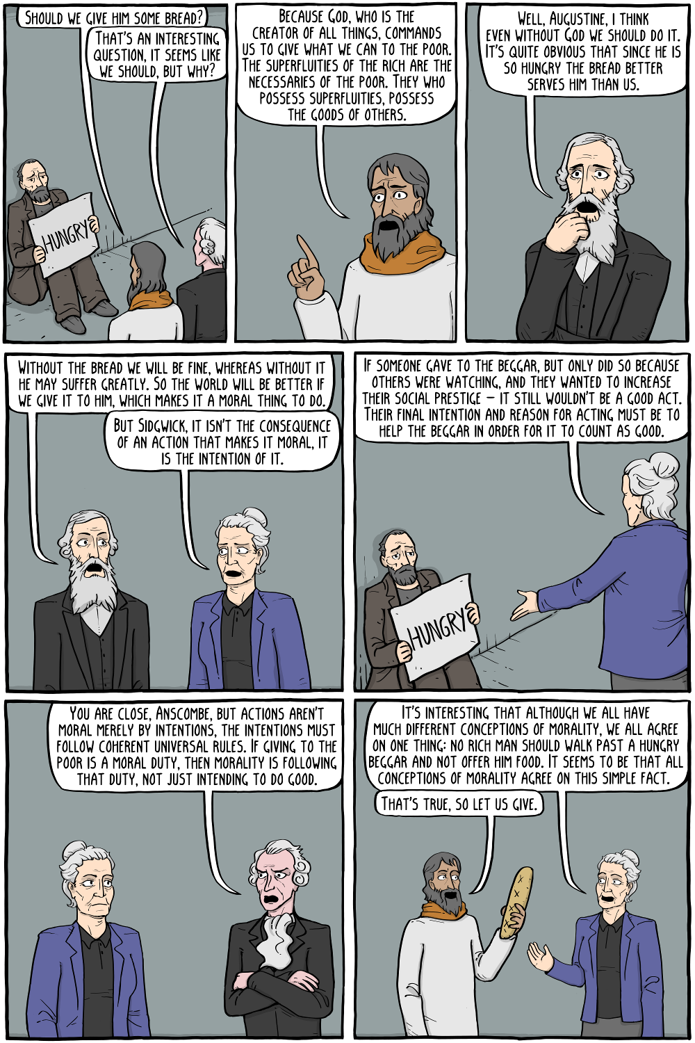 An Ethical Dilemma Finally Resolved - Existential Comics