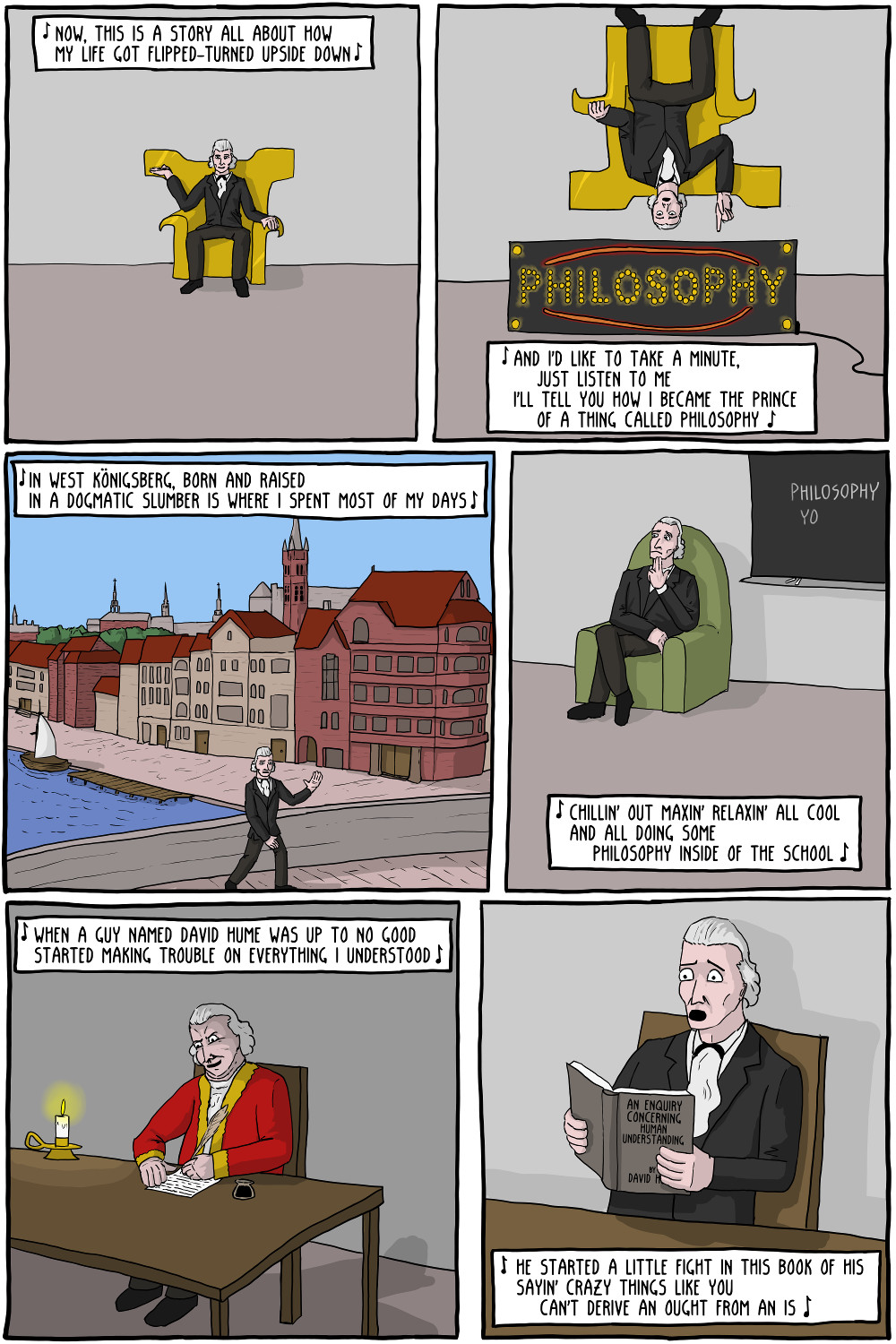 immanuel kant fresh prince of philosophy existential comics