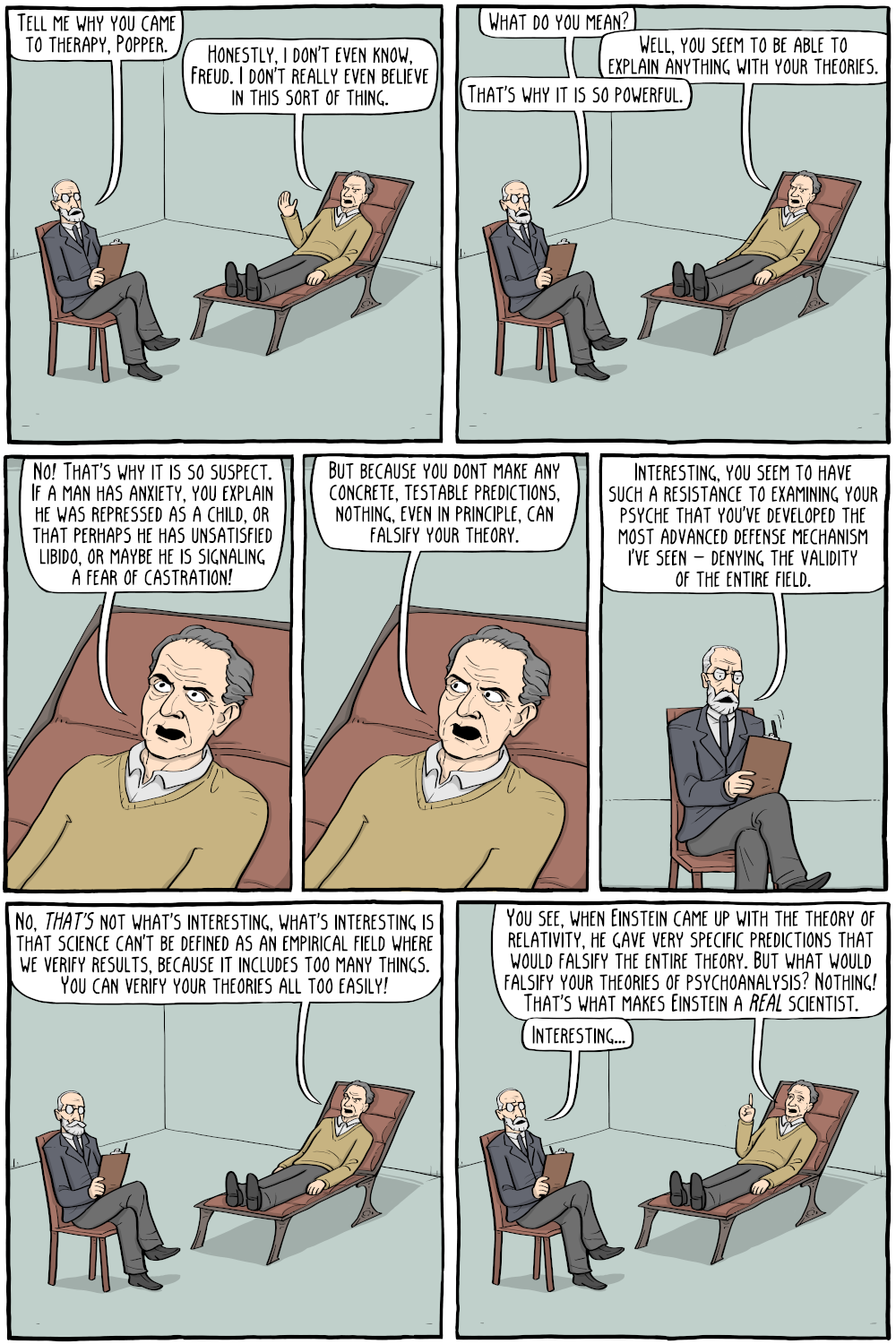 Freud and Popper - Existential Comics