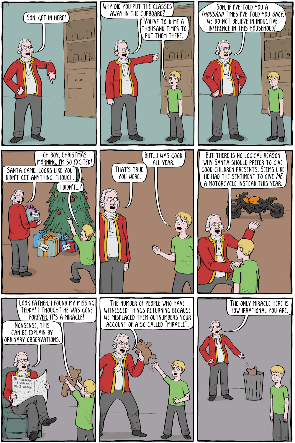 Humean Child Raising Existential Comics