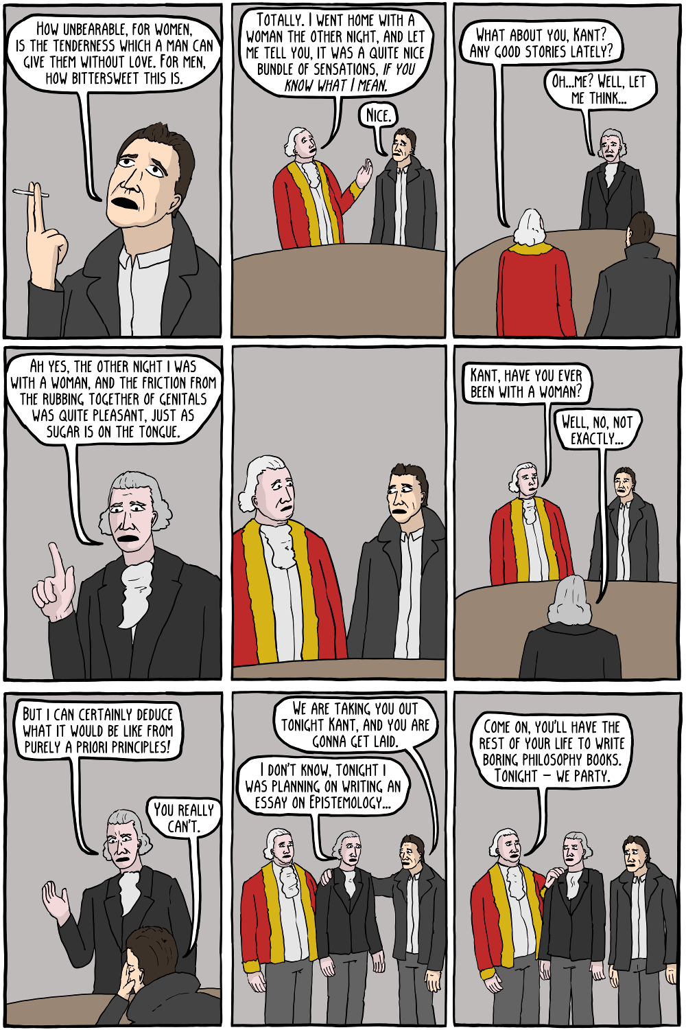 david hume existential comics immanuel kant the 40 year old virgin
