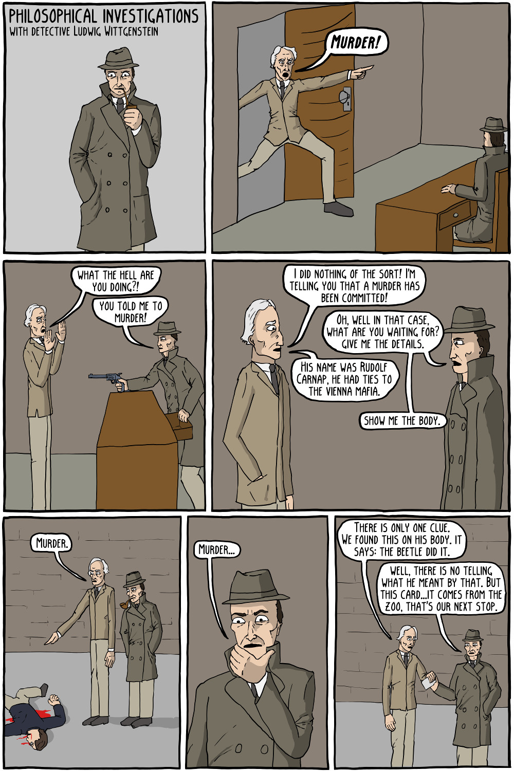 Existential Comics about Wittgenstein