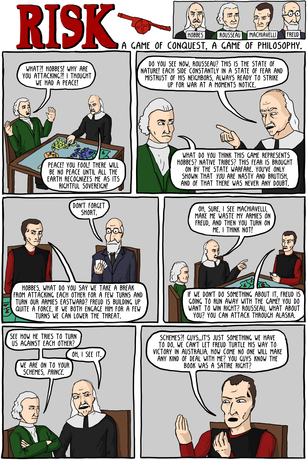risk a game of conquest a game of philosophy existential comics