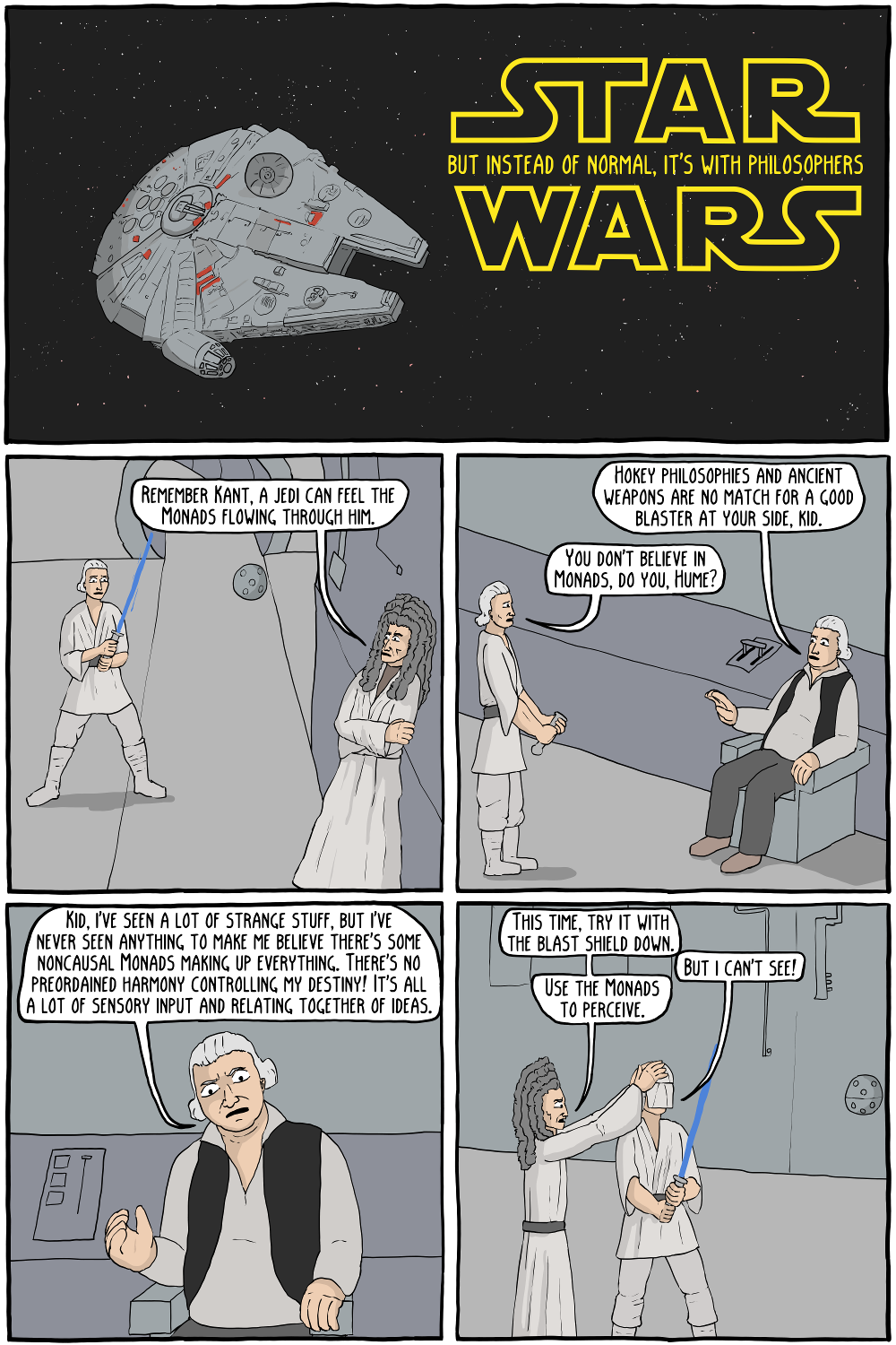 star wars but instead of normal it s with philosophers