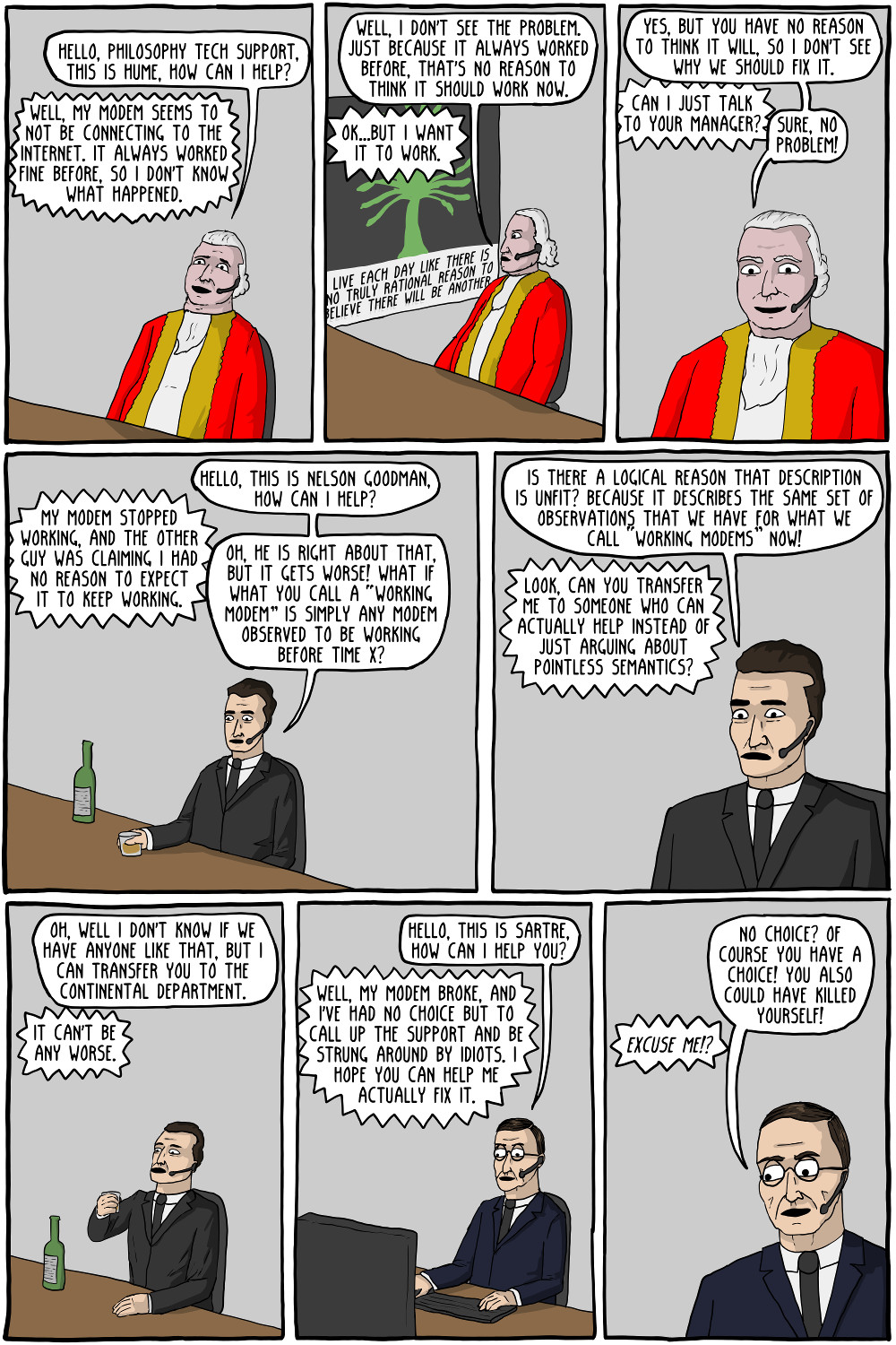 philosophy tech support existential comics philosophy tech support